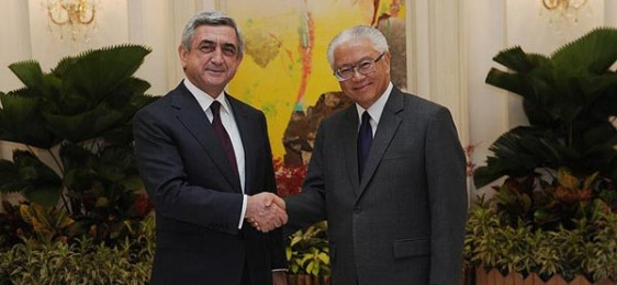 Armenian President On Visit To Singapore