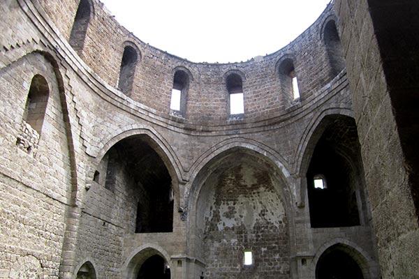 Interior of 250-year-old Armenian Holy Trinity Church in Malatya