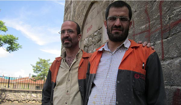 Armenian brothers Arman (left) and Murad