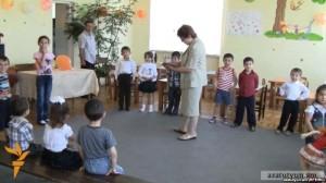 Armenia - Children at the Chinari village kindergarten, 8Jun2012.