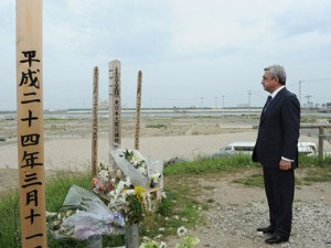 Paying respect to the victims of the Tsunami