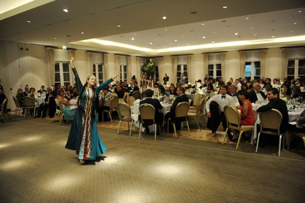Lucine Hakobyan performing an Armenian dance
