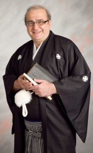 Pogosyan, dressed in a traditional Japanese hakama, taught for 21 years at International Christian University in the city of Mitaka in Tokyo. COURTESY OF GRANT POGOSYAN