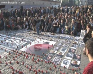 Commemoration in Taksim