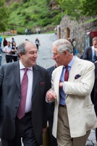 Prince Charles with Dr. Sarkissian after a visit to Geghard. Courtesy image
