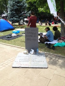 'Surp Hagop Armenian Cemetery (1551-1939). You took our cemetery, you cannot take our park'