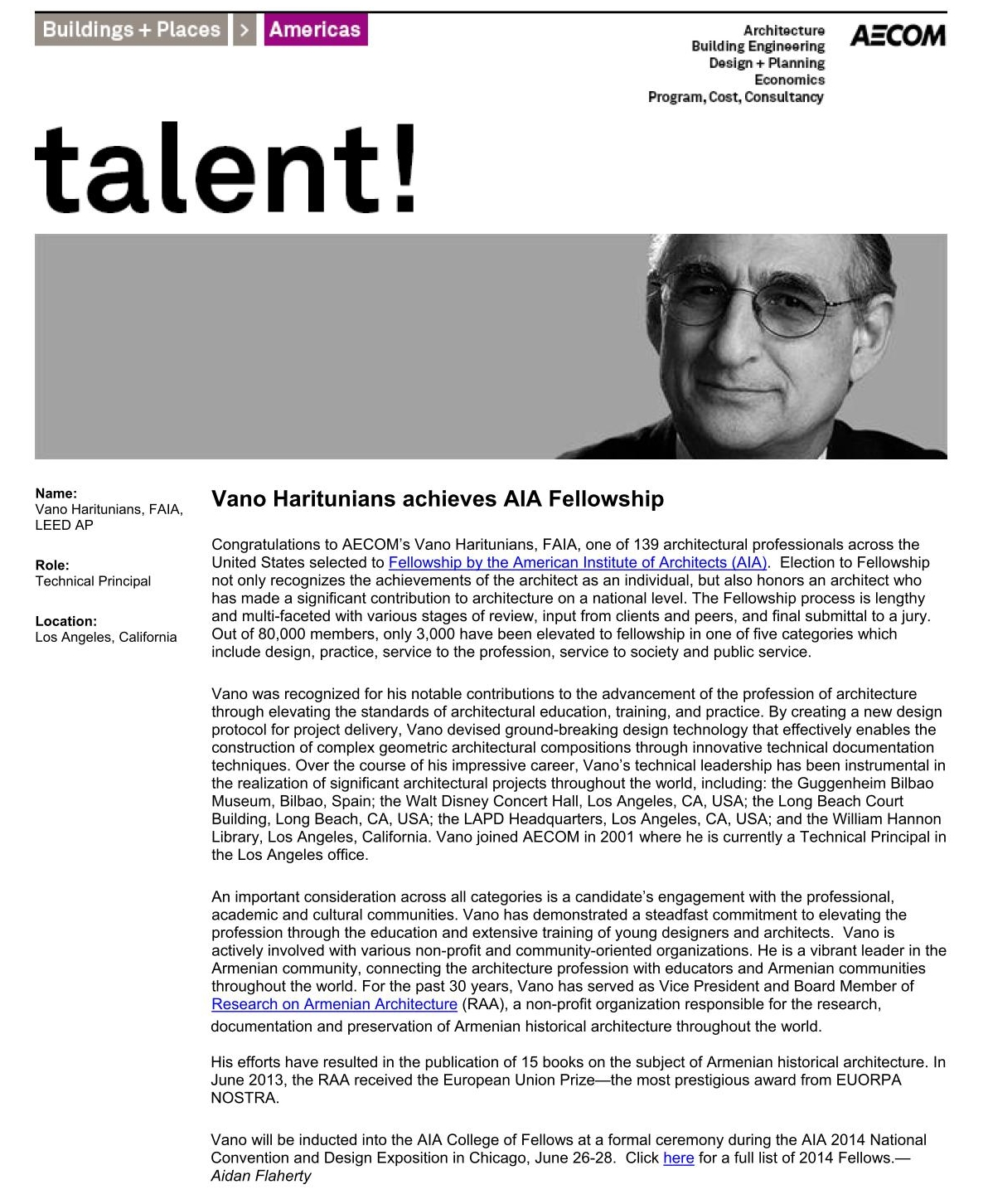 Talent announcement_architect