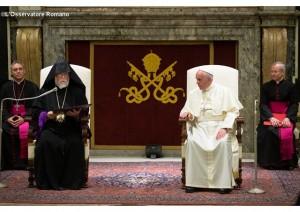 catholicos Aram I with Pope 2