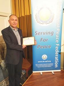 RAFFI SARKISSIAN Ambassador for Peace April 2016 LOW RES