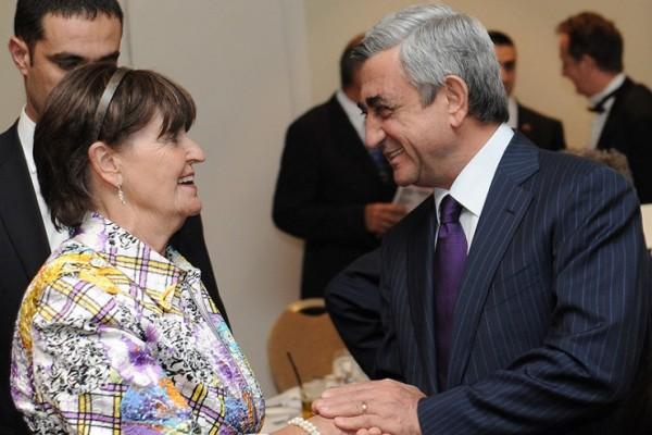 Happy to meet Baroness Cox